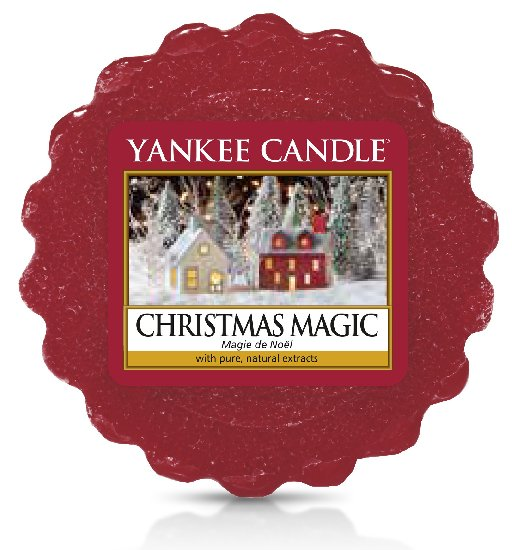 Yankee Candle červený vonný vosk do aroma lampy Christmas Magic