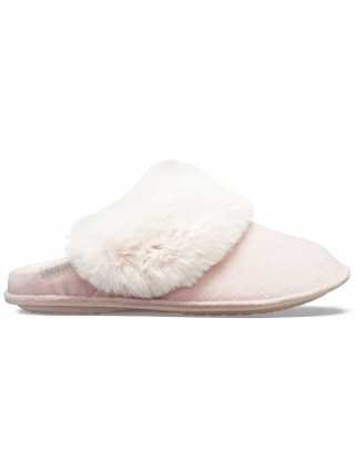 Crocs pudrové pantofle na doma Classic Luxe Slipper Rose Dust - W11