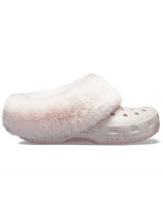 Crocs pudrové pantofle Mammoth Luxe Radiant Clog Rose Dust - W10