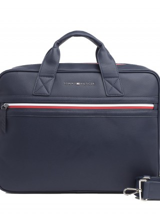 Tommy Hilfiger unisex taška na notebook Essential Computer Bag Pique Tommy  Navy 7aa72b7275d