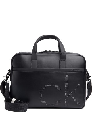 Calvin Klein černá unisex taška na notebook CK UP Slim Laptop Bag Black