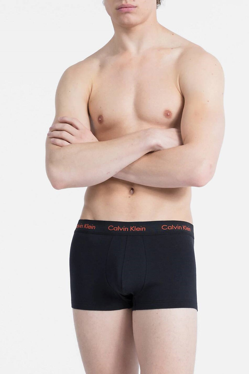 Calvin Klein černý 3 pack boxerek Cotton Stretch