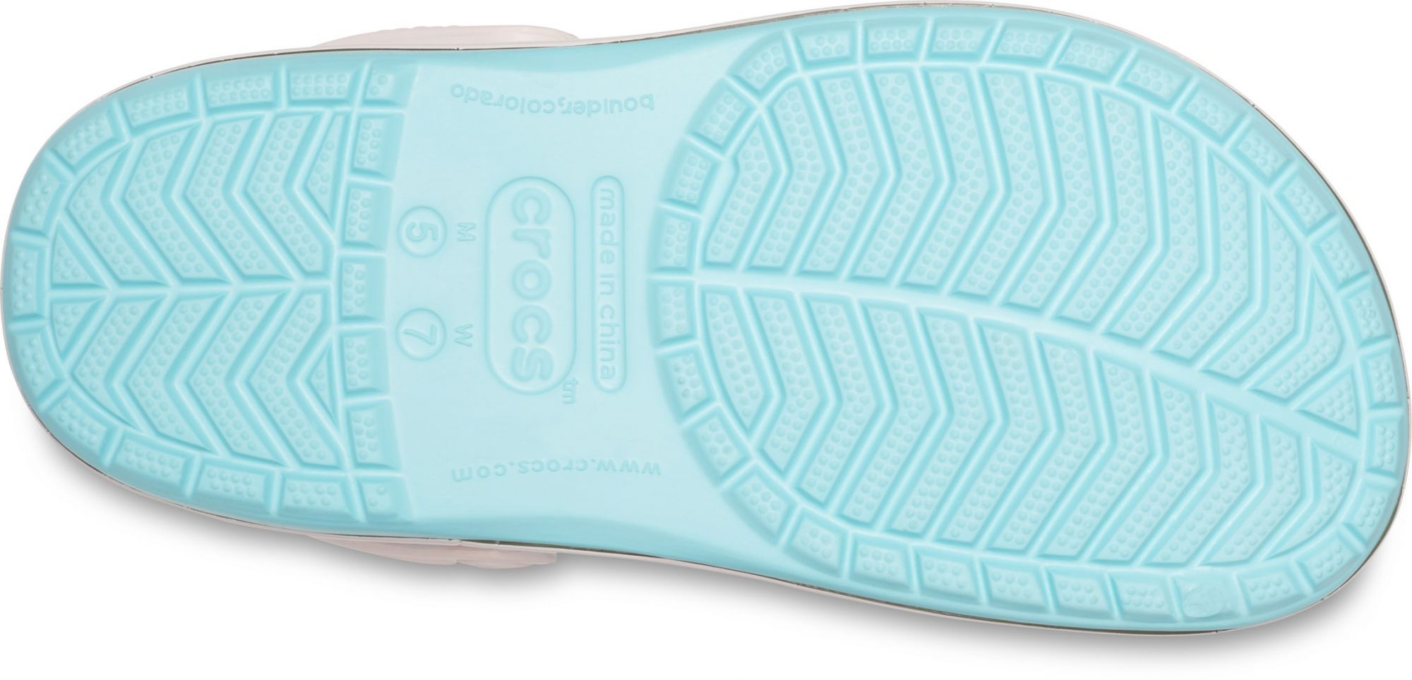 Crocs tyrkysové pantofle s plameňáky Crocband Seasonal Graphic Clog Ice Blue/Pink