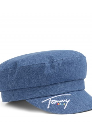 Tommy Hilfiger modrá čepice TJW Denim Baker Boy Hat Denim