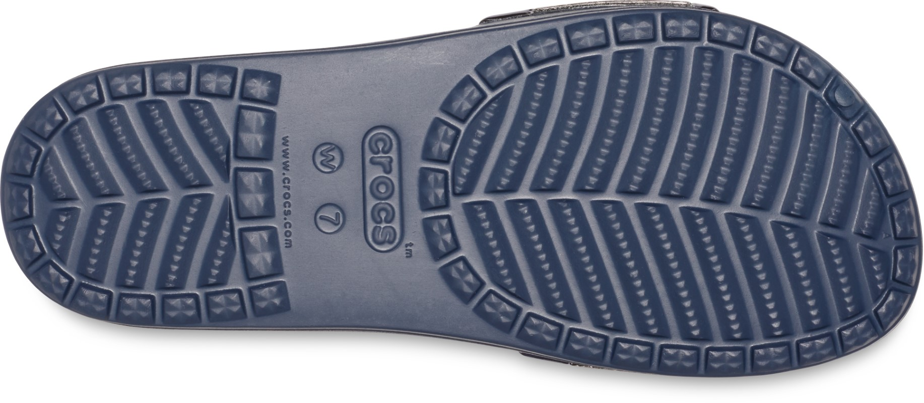 Crocs modré pantofle Sloane Metal Block Slide Multi Navy