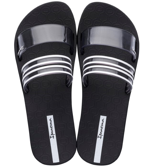 Ipanema černé pantofle New Fem Black/Smoke/White