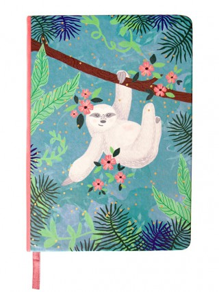 Disaster linkovaný sešit Over The Moon Sloth Notebook A5