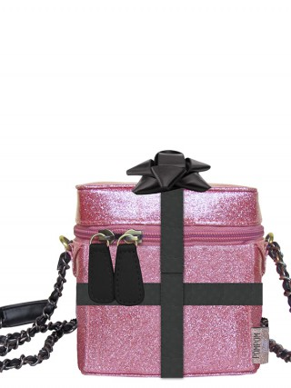 Disaster třpytivá crossbody kabelka Pompom Tutti Glitter Mini Bag