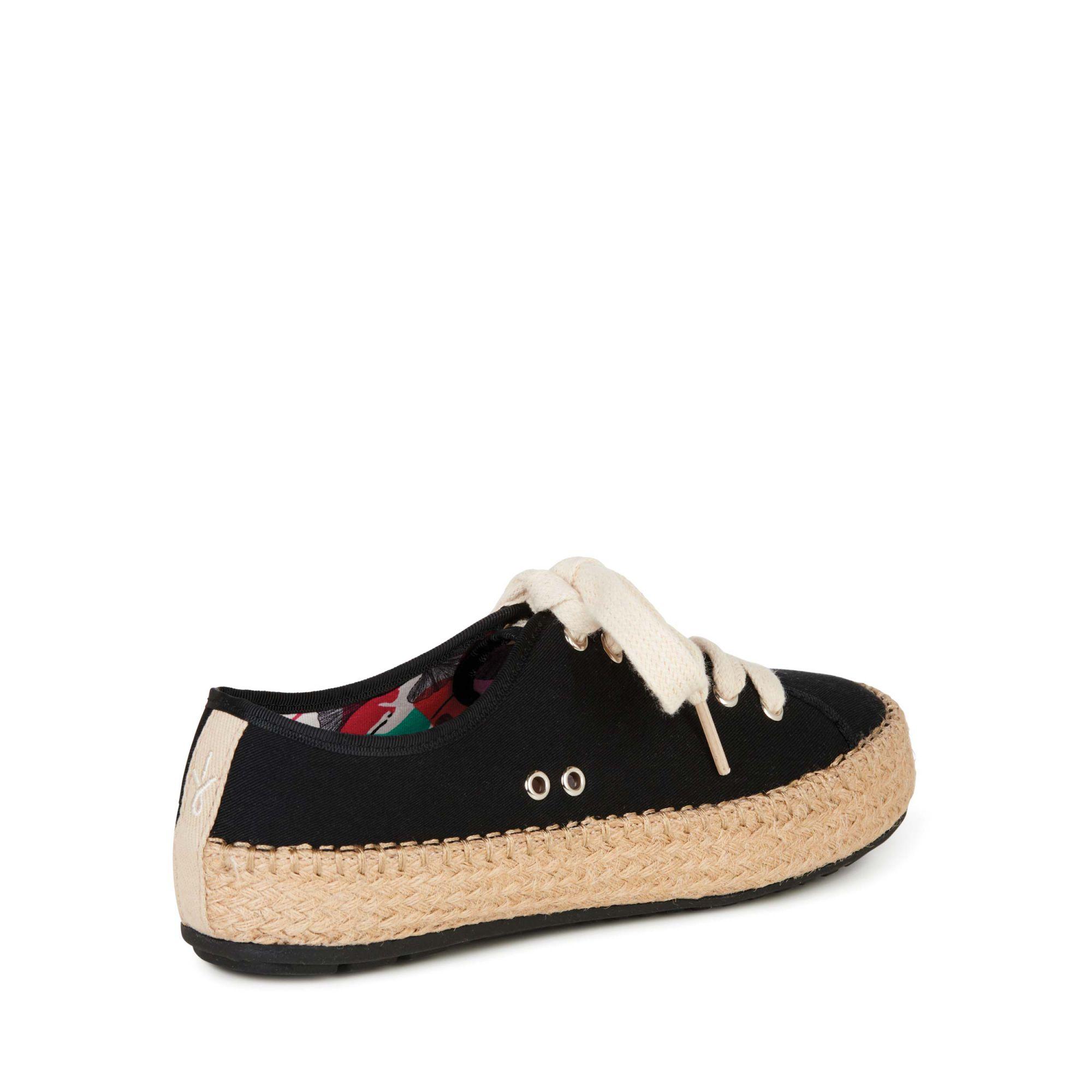 Emu Australia černé bavlněné tenisky Agonis Black