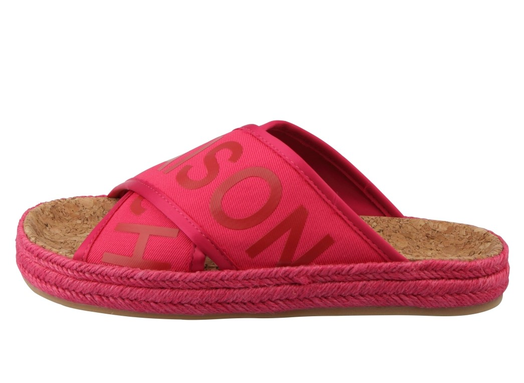 Scotch & Soda malinové pantofle Angle Tropical Pink