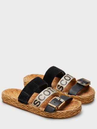 Scotch & Soda pantofle Angle Black s pásky  - 38