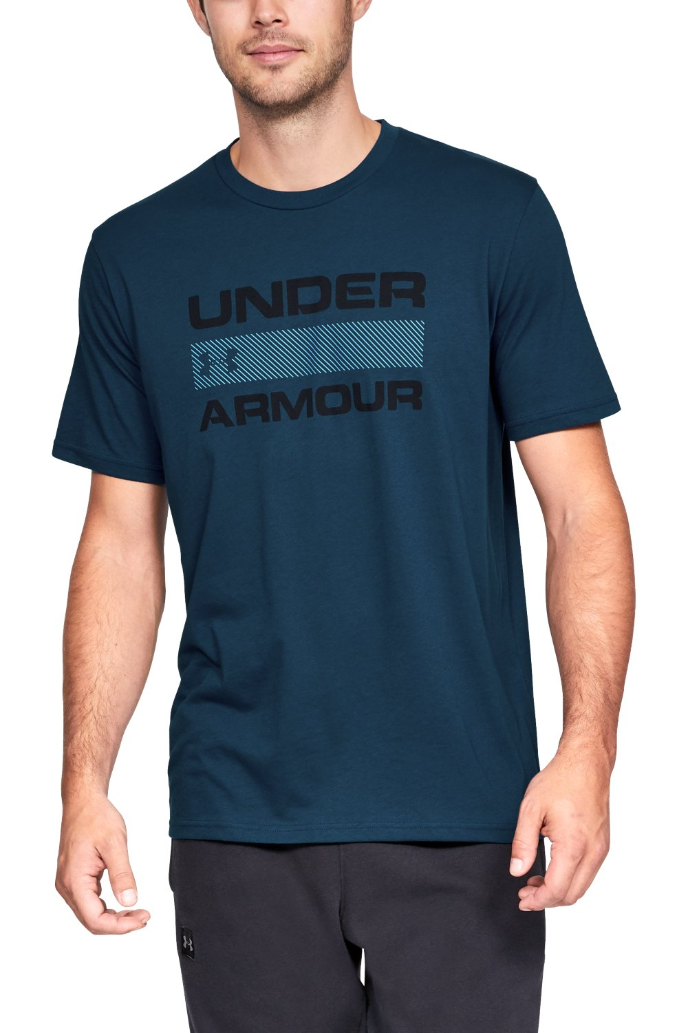 Under Armour modré pánské tričko Team Issue Wordmark Ss