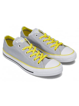 Converse šedé tenisky Chuck Taylor All Star Ox Wolf Grey/Fresh Yellow - 37,5