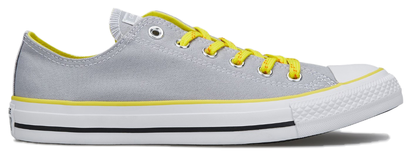 Converse šedé tenisky Chuck Taylor All Star Ox Wolf Grey/Fresh Yellow