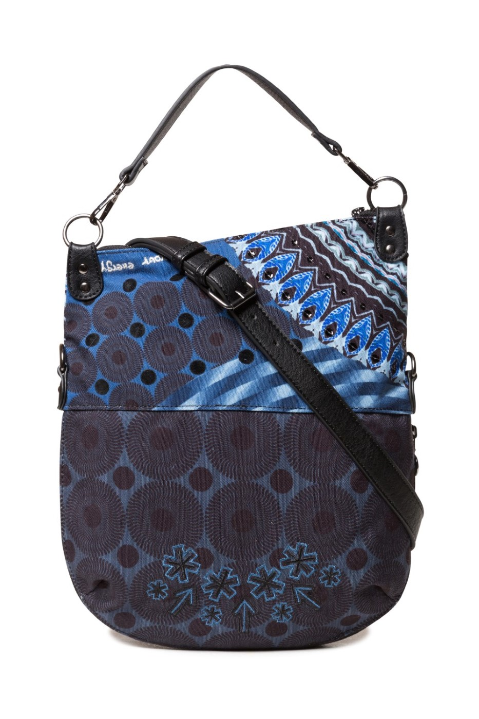 Desigual modrá crossbody kabelka Bols Blue Friend Folded