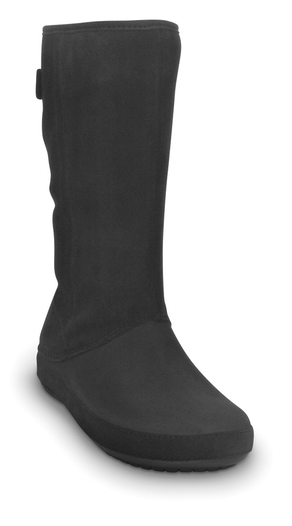 CROCS Berryessa Tall Suede Black