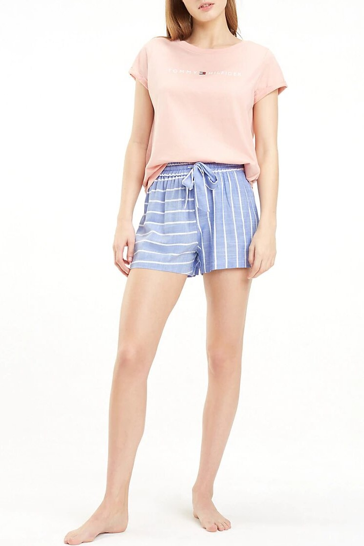 Tommy Hilfiger modré kraťasy Short Stripe Gray Dawn