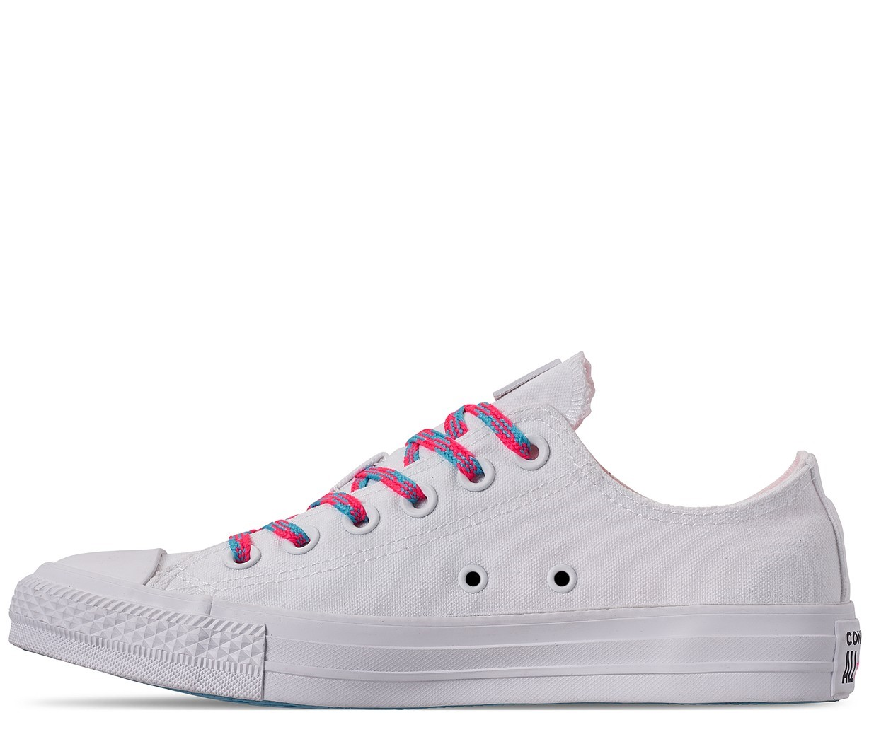 Converse bílé tenisky Chuck Taylor All Star OX White/Race Pink/Gnarly Blue