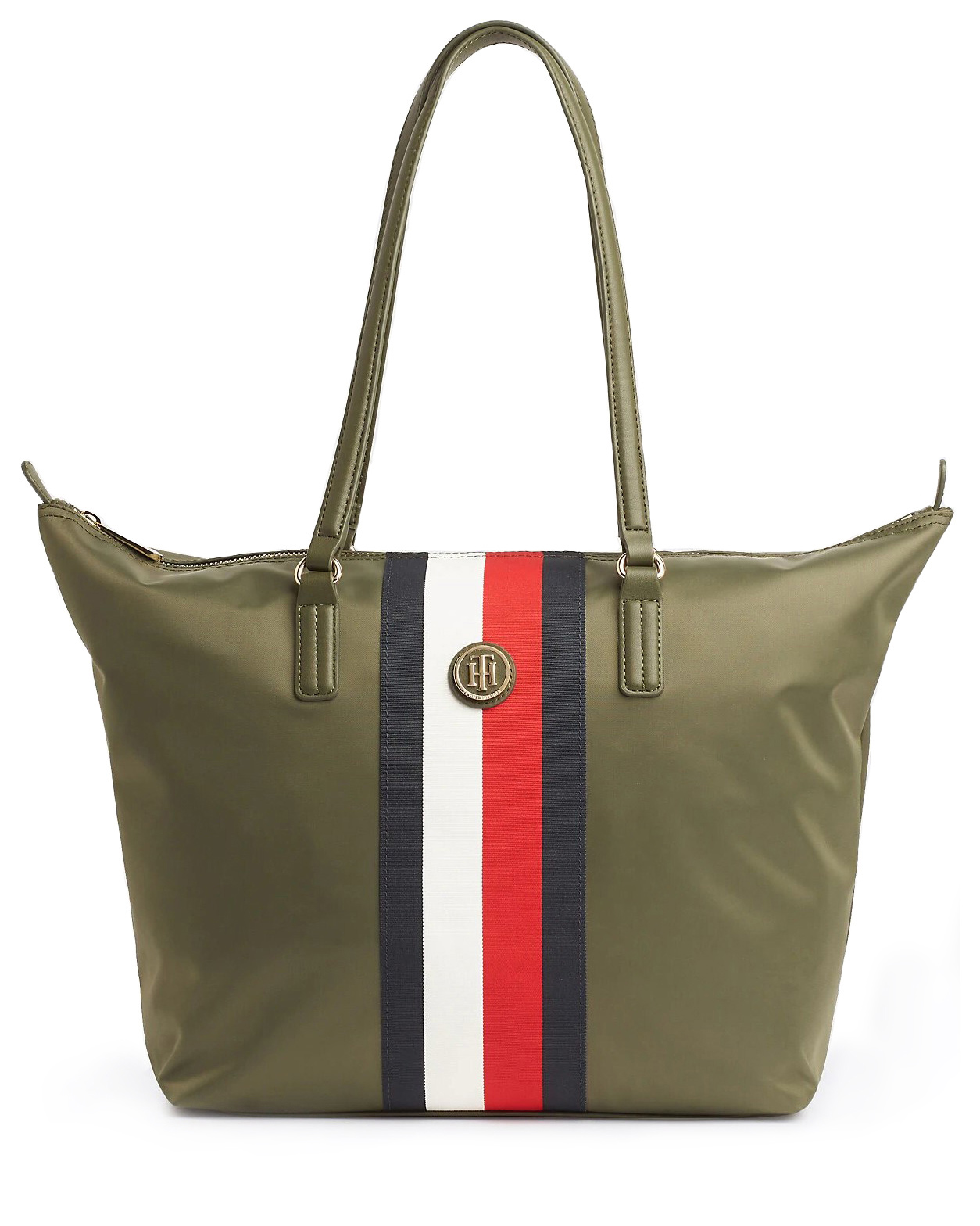Tommy Hilfiger khaki kabelka Poppy Tote Corp Grape Leaf