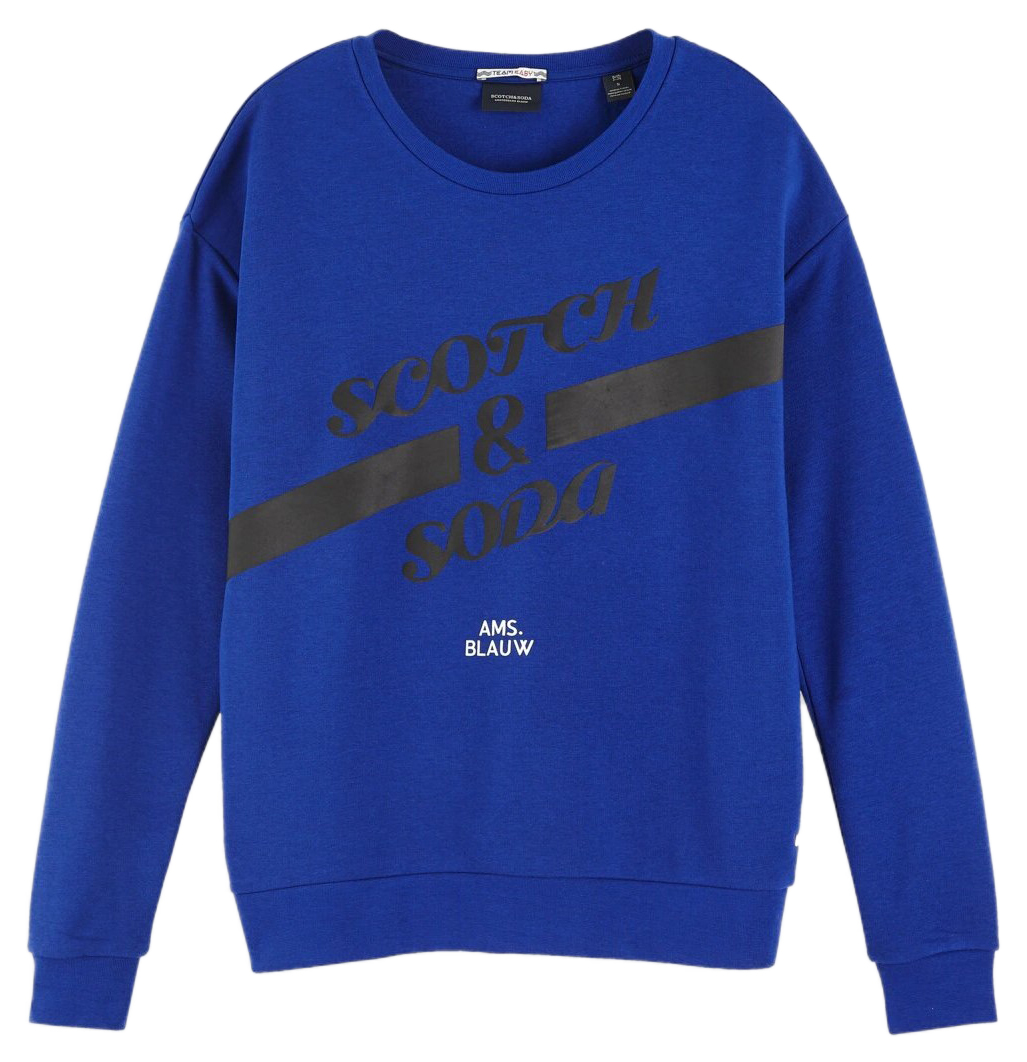 Scotch & Soda modrá mikina Artwork Ams. Blauw