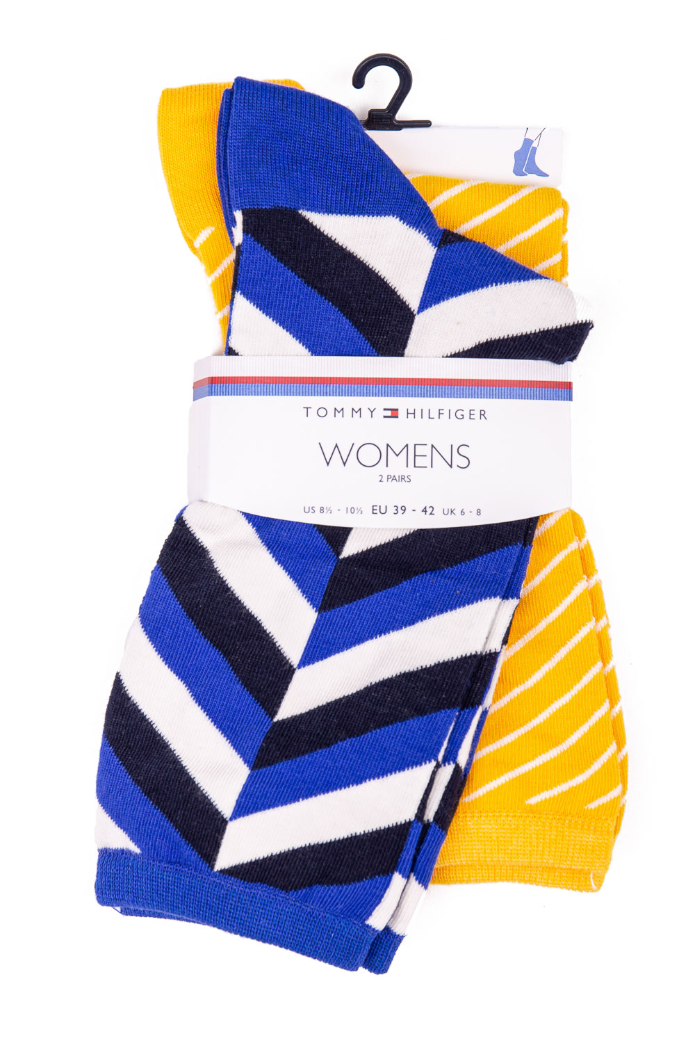 Tommy Hilfiger žluto-modrý 2 pack ponožek TH Women Sock 2P Herringbone