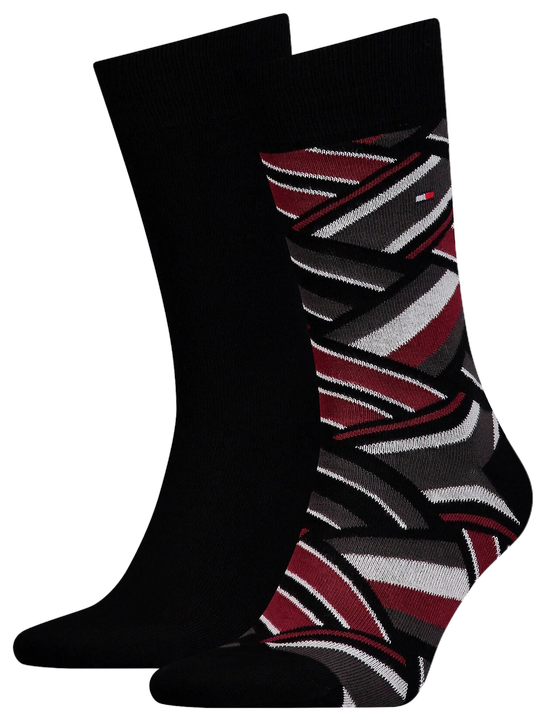 Tommy Hilfiger 2 pack pánských ponožek TH Men Sock 2P Color Block