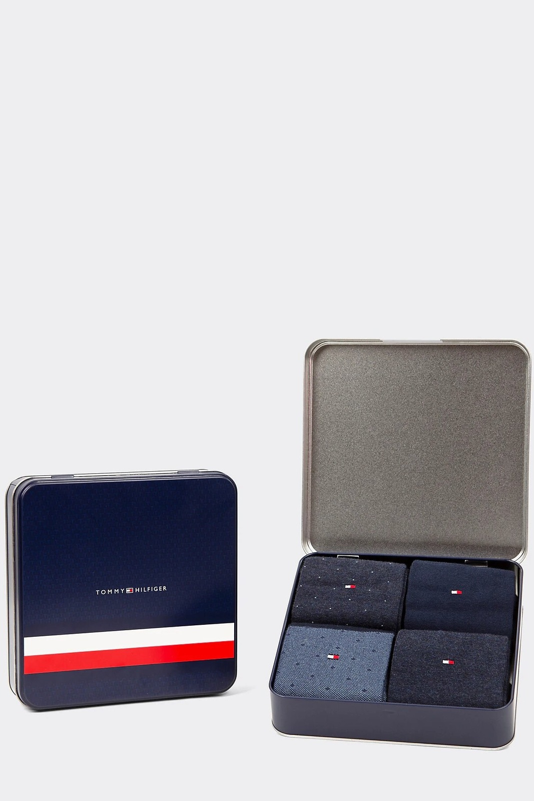 Tommy Hilfiger 4 pack pánských ponožek TH Men Mixed Dots Giftbox 4P