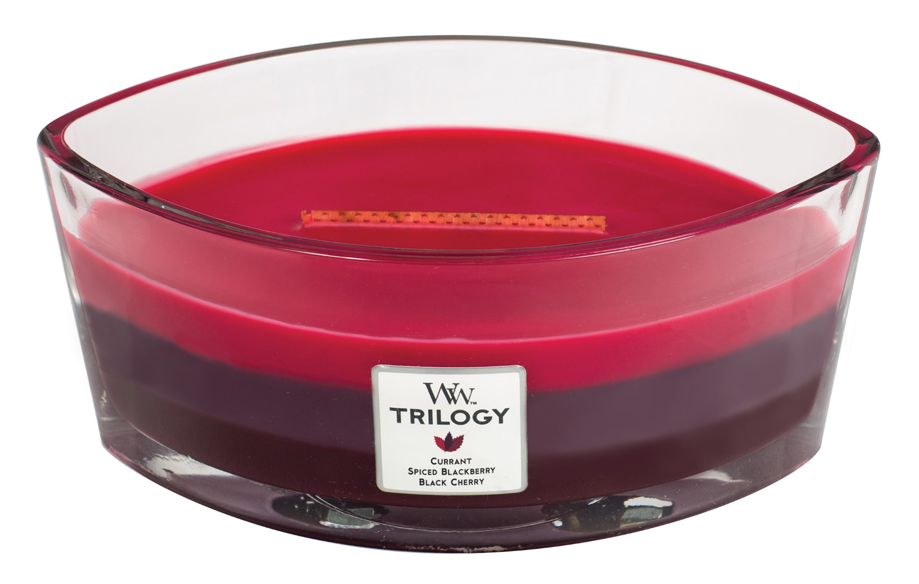 WoodWick vonná svíčka Trilogy Sun Ripened Berries loď