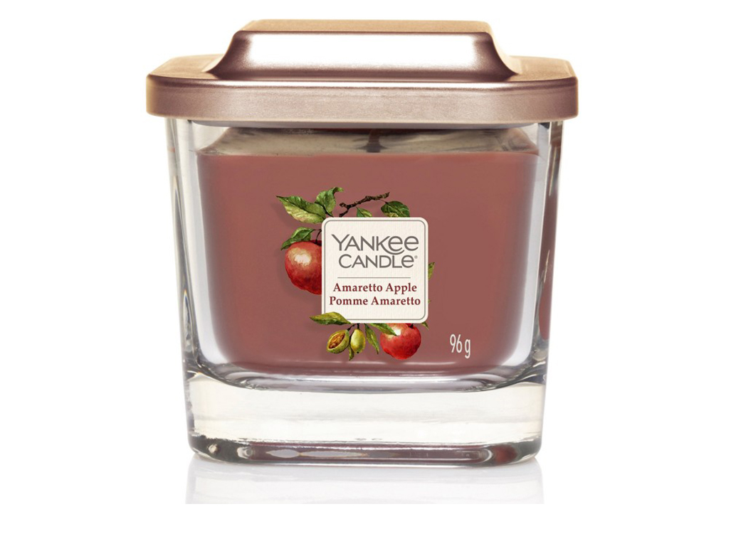 Yankee Candle vonná svíčka Elevation Amaretto Apple hranatá malá 1 knot