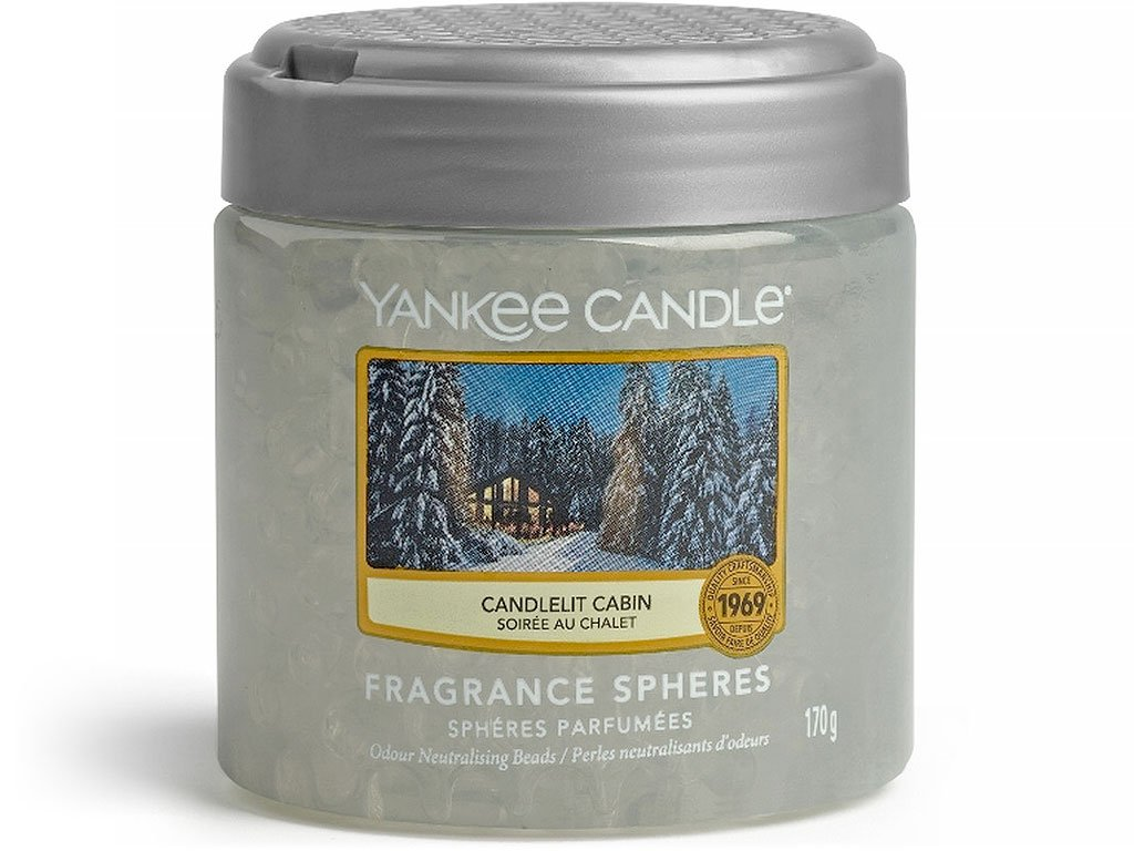 Yankee Candle voňavé perly Candlelit Cabin
