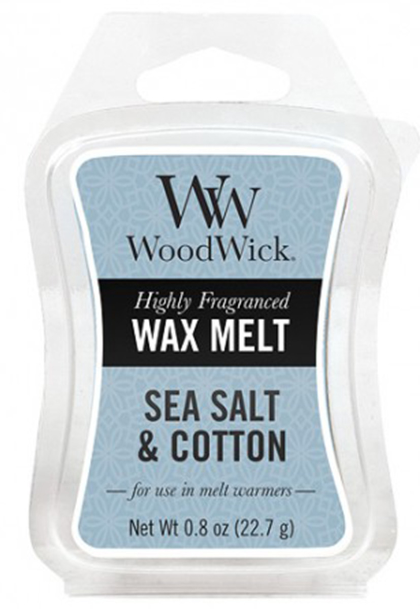 WoodWick vonný vosk do aroma lampy Sea Salt & Cotton