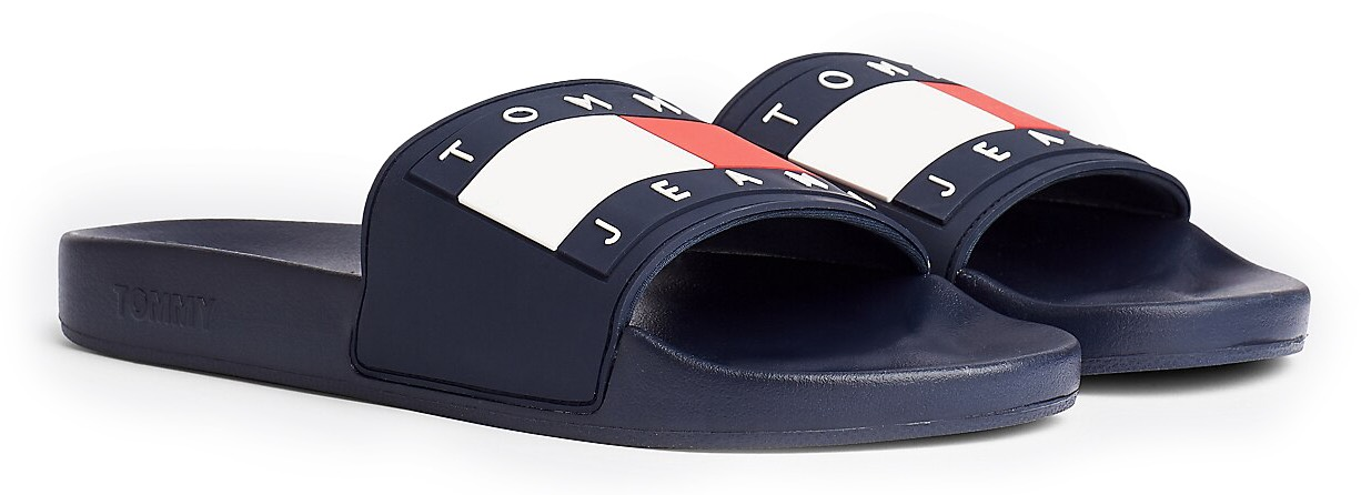 Tommy Hilfiger tmavě modré pantofle Tommy Jeans Flag Pool Slide Twilight Navy