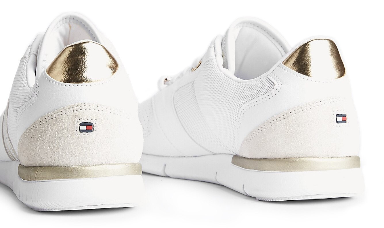 Tommy Hilfiger bílé tenisky Metallic Lightweight Sneaker White/Light Gold