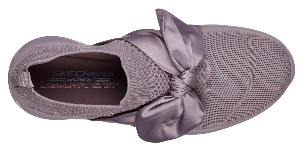 Skechers levandulové slip on Bobs Squad 2 Bow Beauty