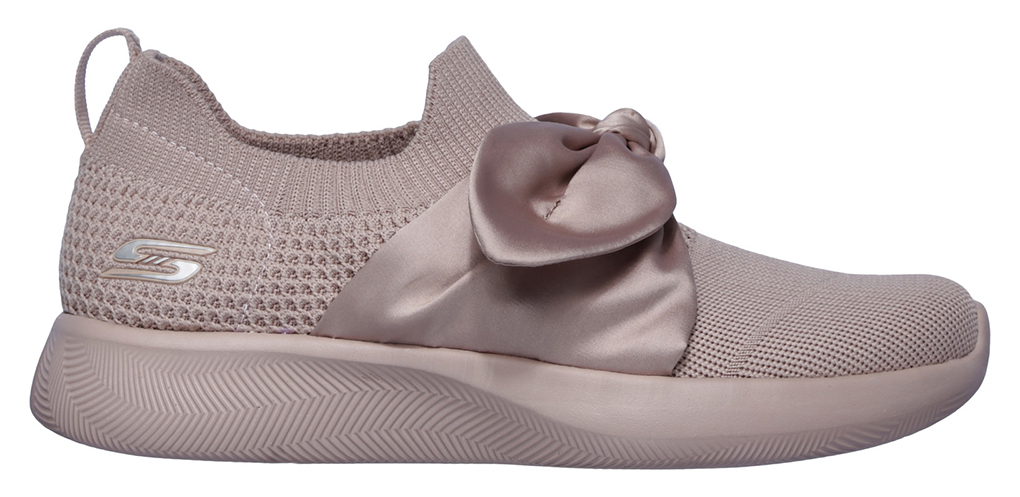 Skechers pudrově růžové slip on Bobs Squad 2 Bow Beauty