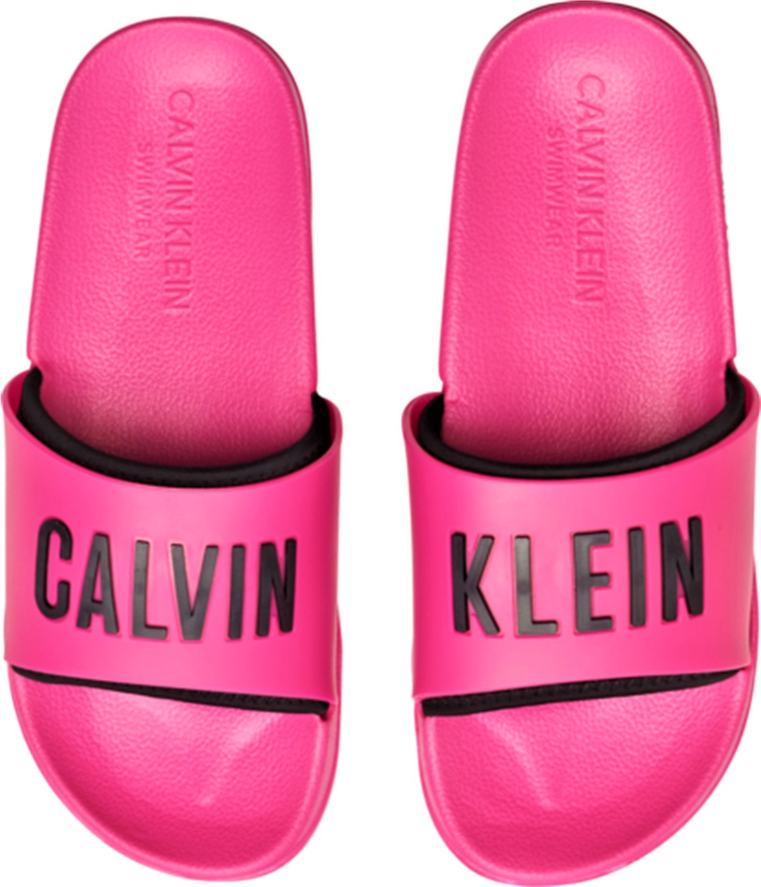 Calvin Klein růžové pantofle Slide Intense Power
