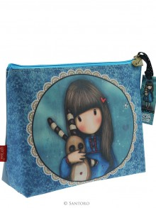 Santoro kosmetická taštička Gorjuss Large Coated Case- Hush Little Bunny