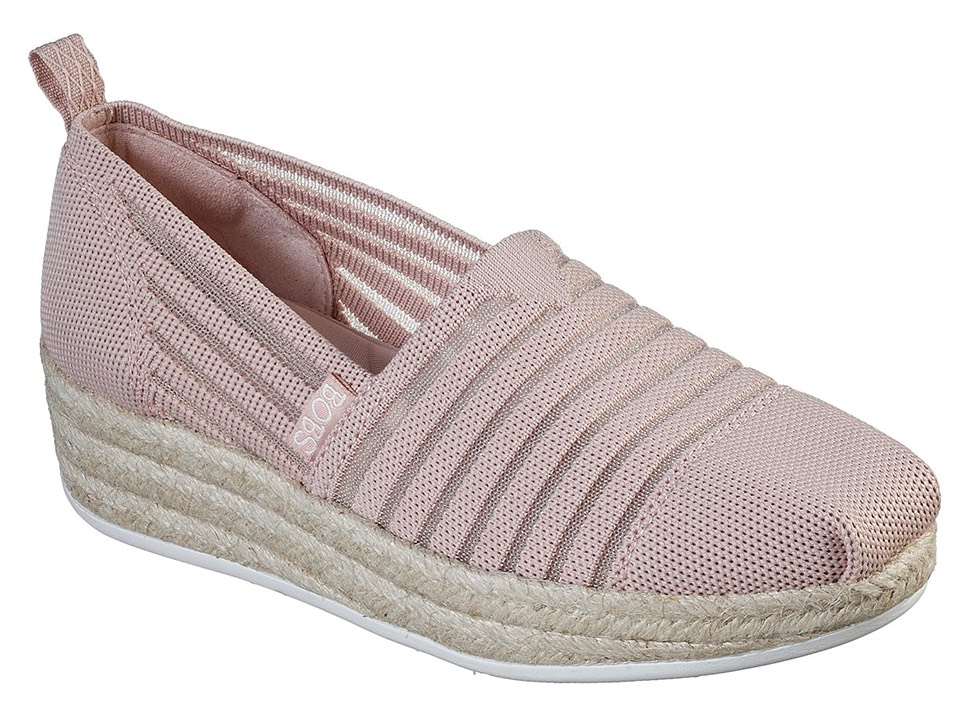 Skechers pudrové espadrilky s jutou Highlights 2.0 Homestretch Blush - 37