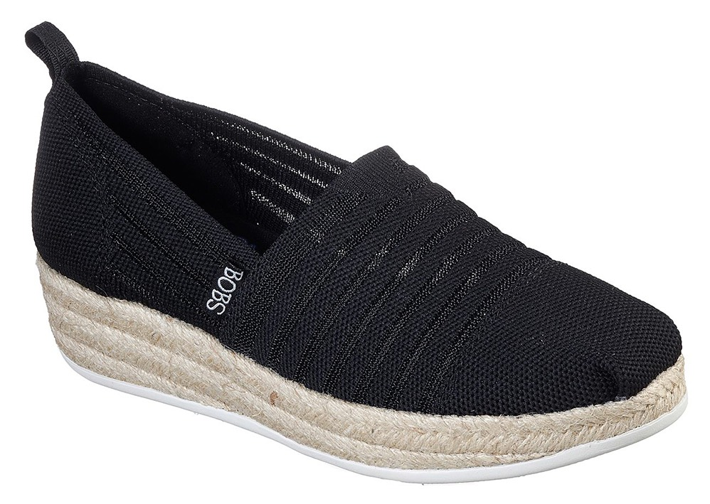 Skechers černé espadrilky s jutou Highlights 2.0. Homestretch Black - 36