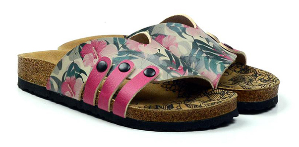 Calceo barevné pantofle Casual Slippers Hibiscus - 36