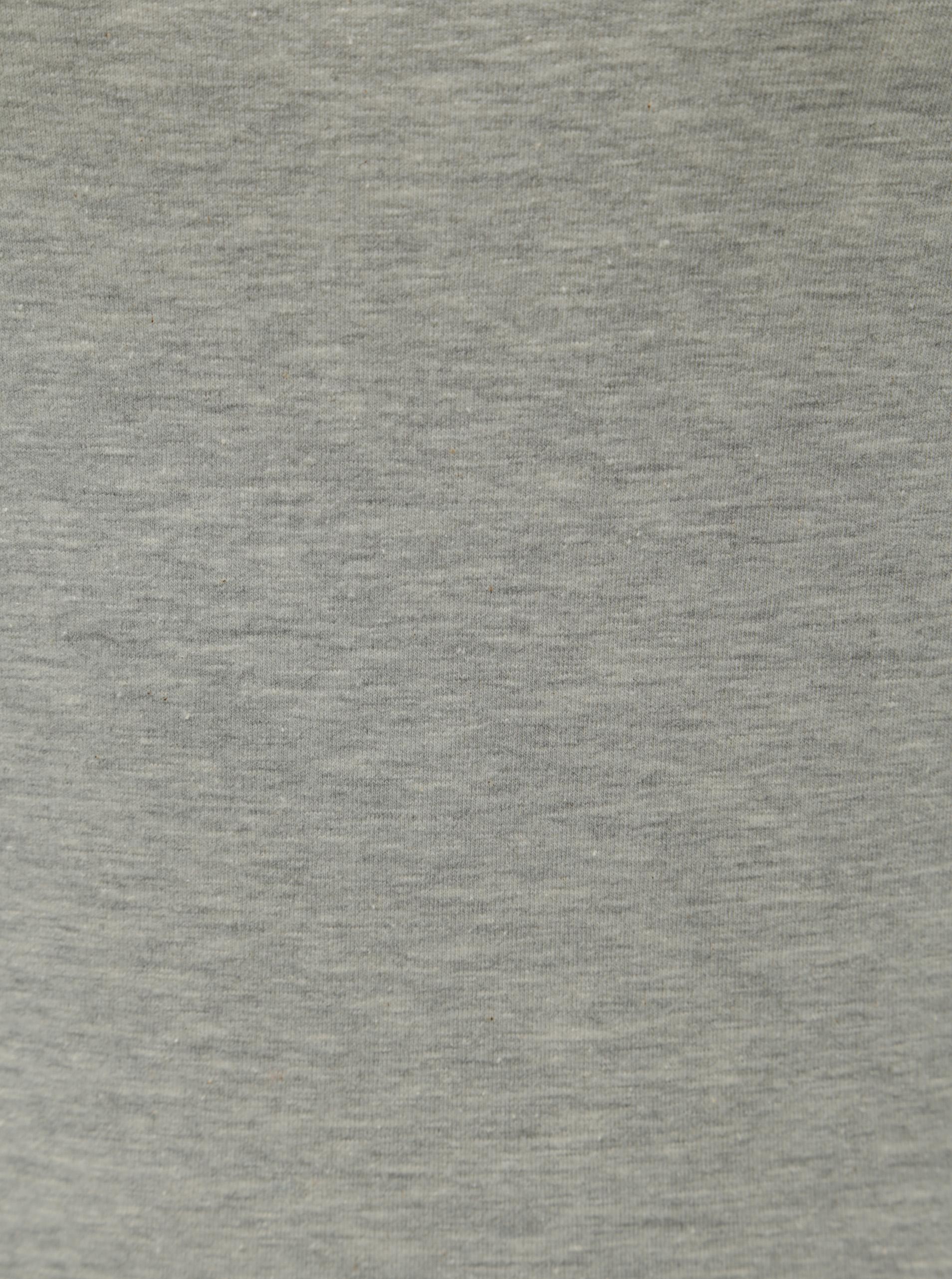 Šedé žíhané basic tričko s dlouhým rukávem VERO MODA Maxi