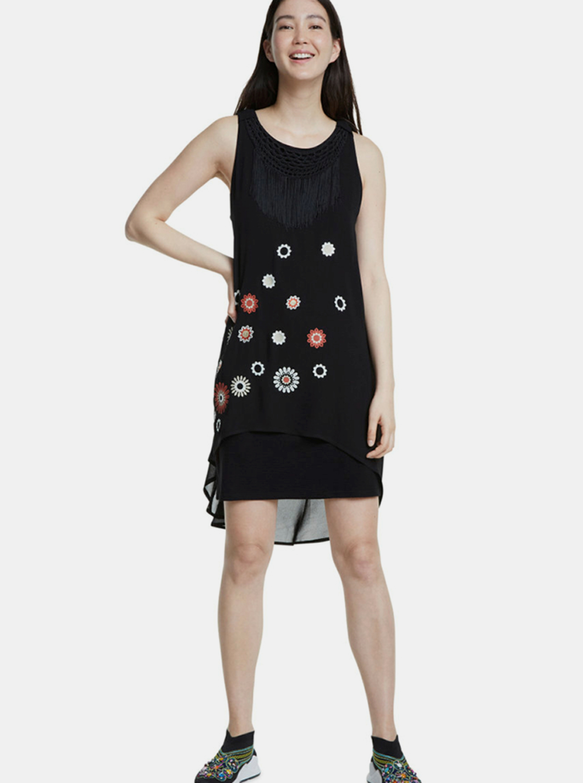 Černé šaty Desigual - S