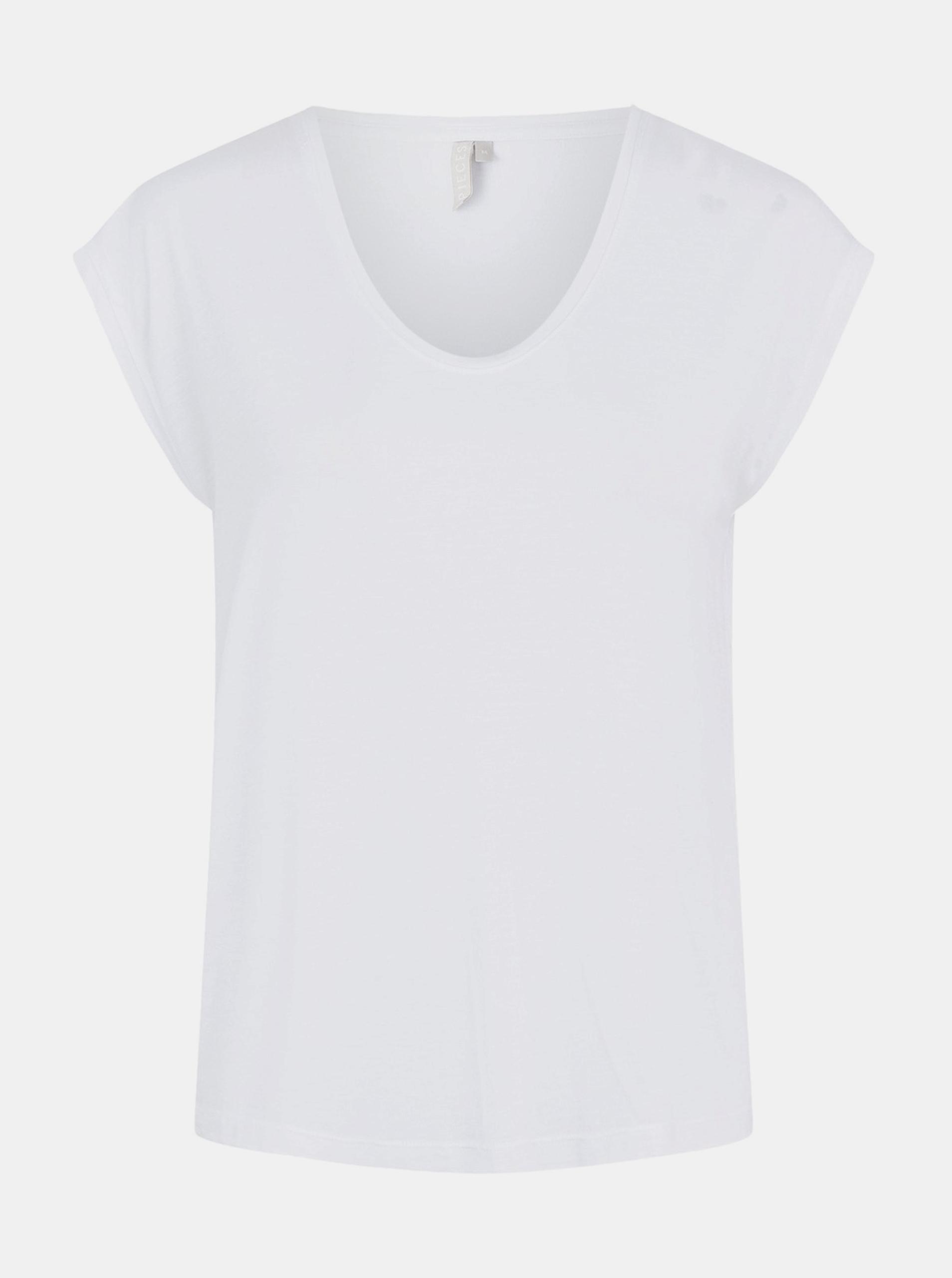 Bílé basic tričko Pieces Billo