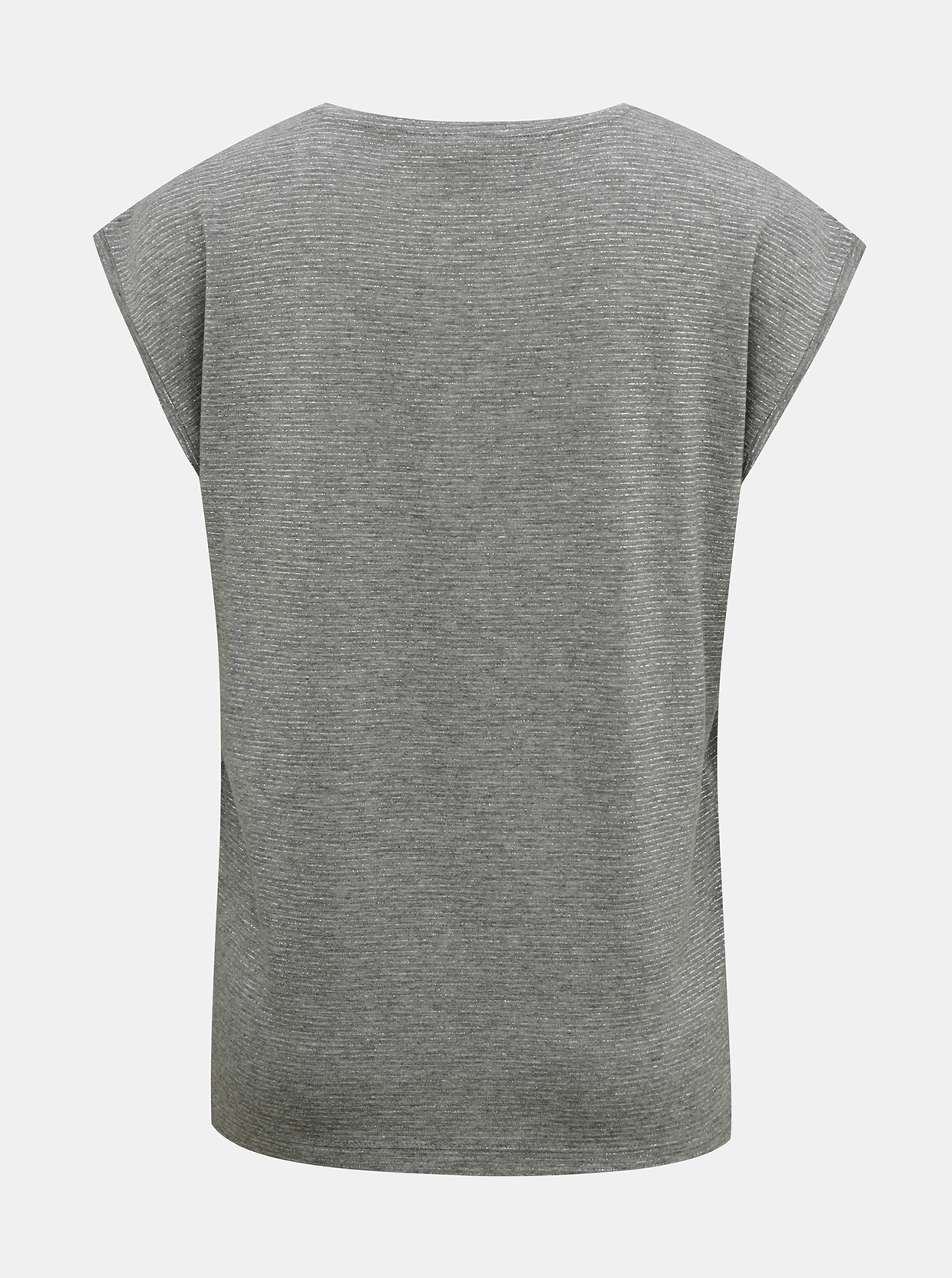 Šedé tričko s metalickými vlákny Pieces