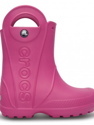 CROCS handle it rain boot kids fuchsiové - C10