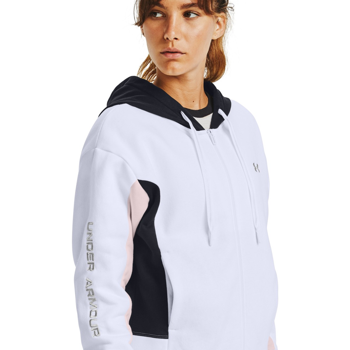 Mikina Under Armour UA Rival Flce EMB FZ Hoodie-WHT