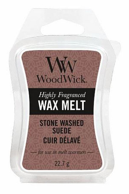 WoodWick vonný vosk do aroma lampy Stone Washed Suede