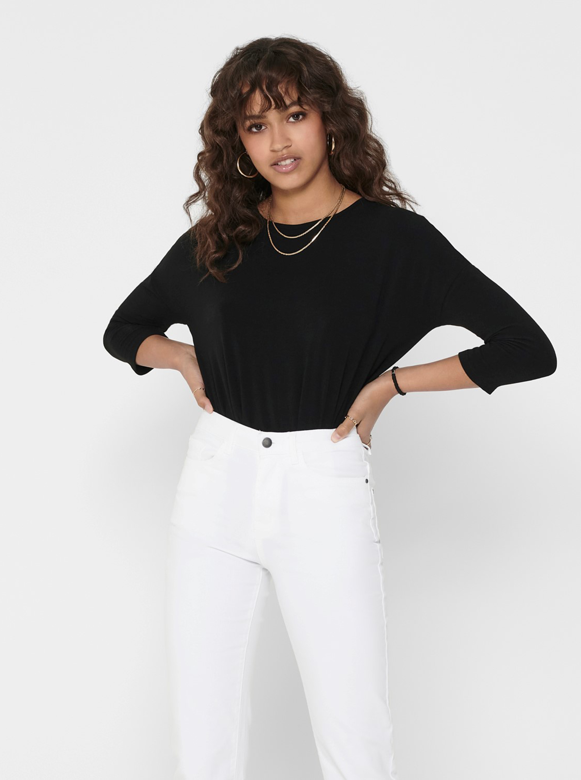 Černý lehký svetr ONLY Glamour - L