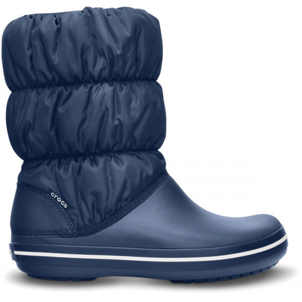 CROCS modré boty Winter Puff Boot Navy - W6