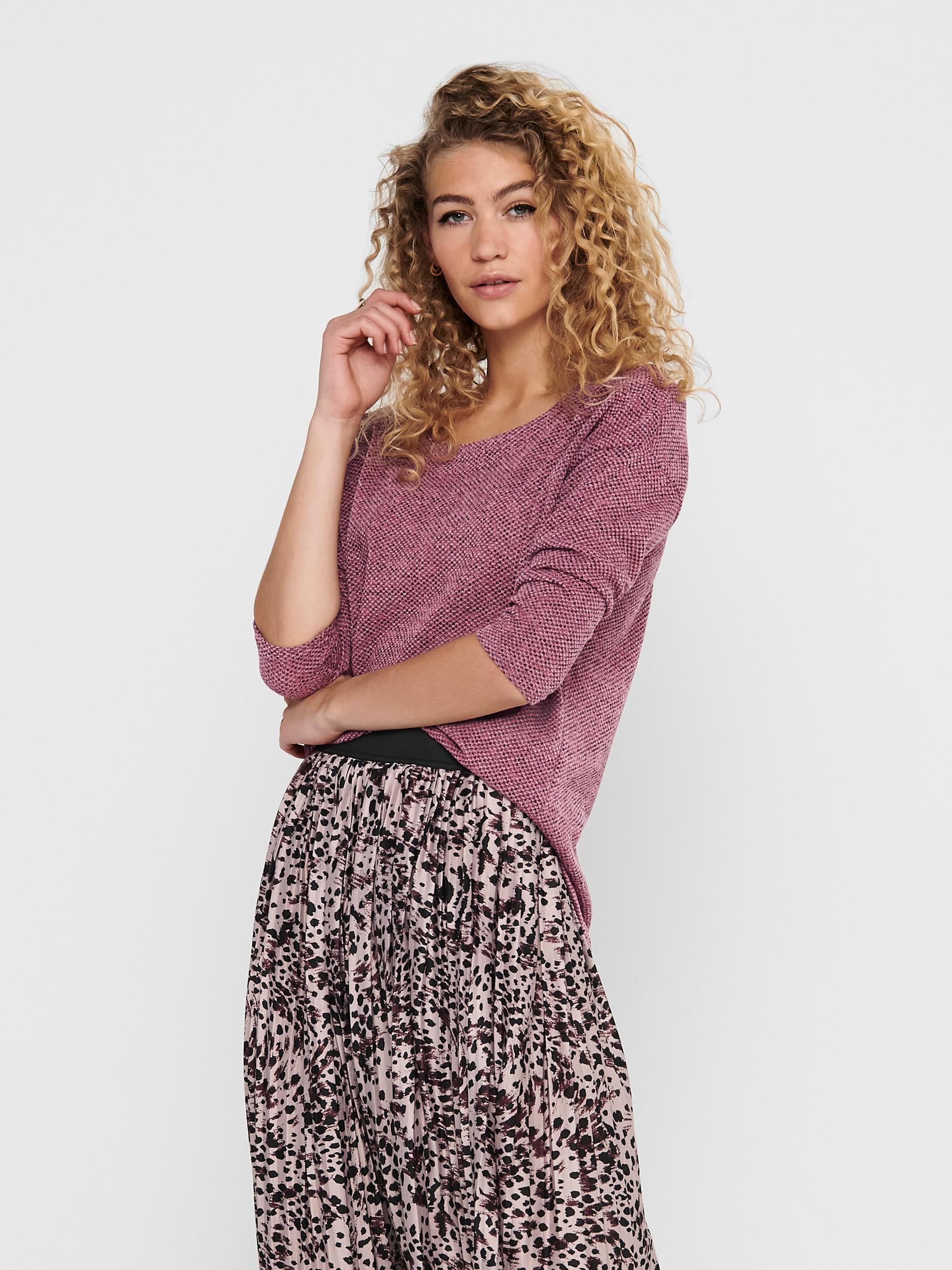 Only tmavě růžový dámský svetr - XS